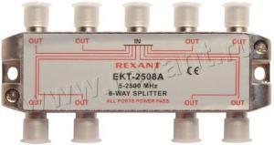 Splitter 8 ТВ под  F  разъем с проходом питания  5-2500 MHz  REXANT