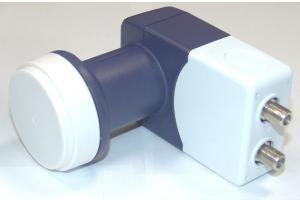 Конвертер LU- 40TCIR  (0,3дБ, TWIN,11,7-12,75 ГГц. круговая поляризация,с облучателем, 2 выхода)