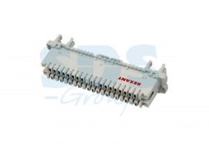 Плинт 10 pin  размыкаемый   0-9  (монтаж на рейку)