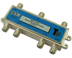 Сплиттер    SAH611F (1x6  5-862 Мгц, 11db) TLC