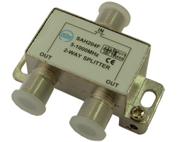 Сплиттер    SAH204F (1x2, 5-862 Мгц, 4db) RTM