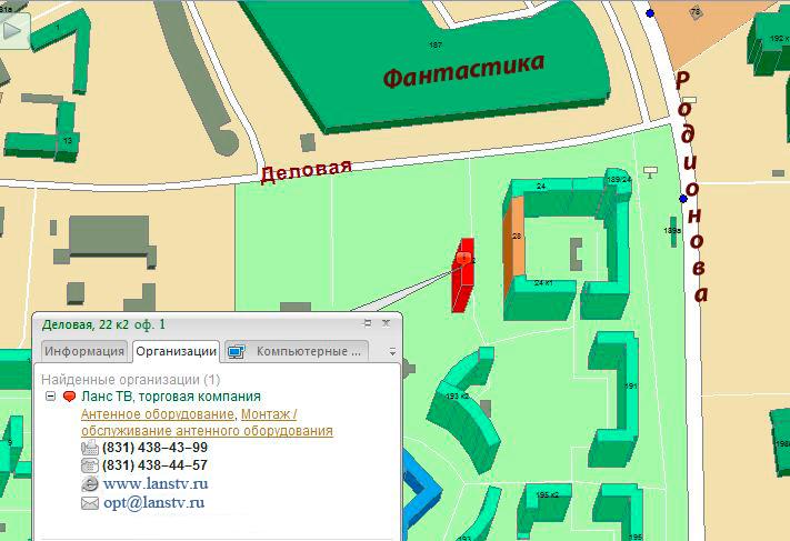 карта Ланс-ТВ