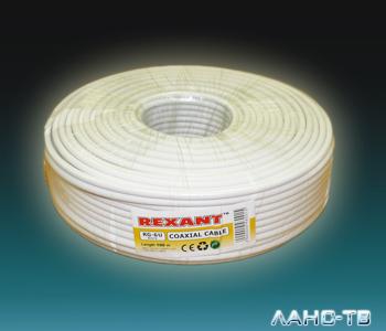 RG -6   U    (75 Ом)    100м   REXANT белый