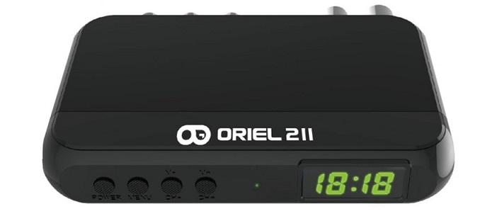 Цифровая эфирная приставка DVB-T2 Oriel 211