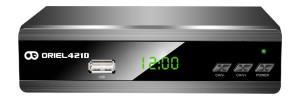 Цифровая эфирная приставка DVB-T2 Oriel 421UD с обучаемым пультом ДУ