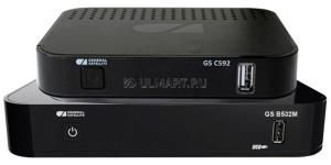Комплект Триколор   на 2 ТВ: ресиверы GS B532M и GS C592